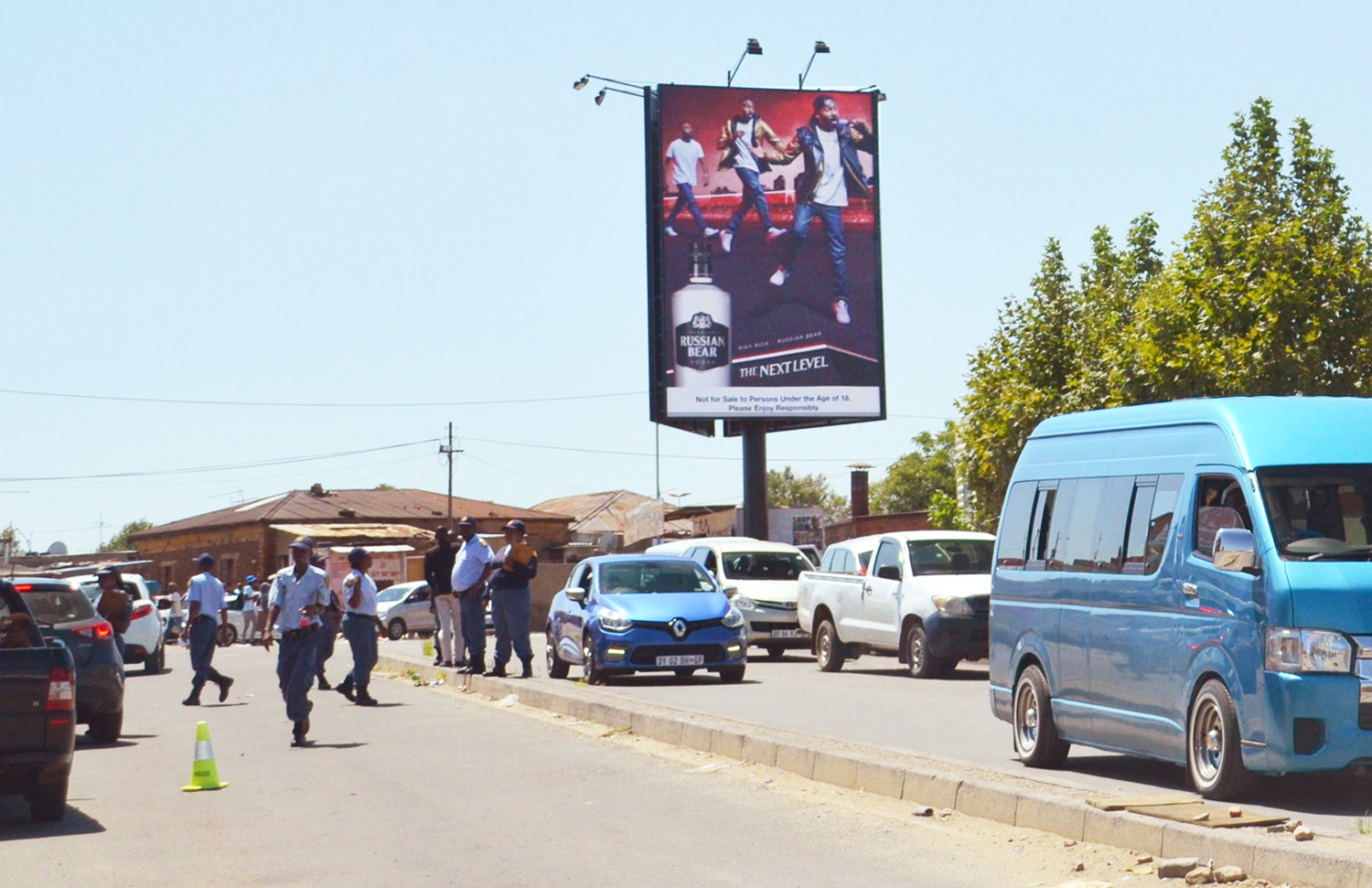 9x6 super sign at Alex Plaza, Alexandra Johannesburg Gauteng. Billboard at Alex Plaza Johannesburg Gauteng. Advertise at Alex Plaza Johannesburg.