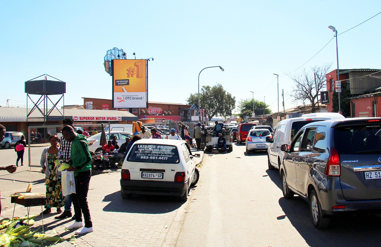 9x6 super sign at Alex Plaza, Alexandra Johannesburg Gauteng. Billboard at Alex Plaza Johannesburg Gauteng. Advertise at Alex Plaza Johannesburg.