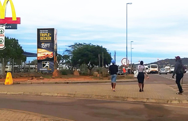 Billboard at Paledi Mall Mankweng Limpopo. Advertising Tower at Paledi Mall Limpopo.